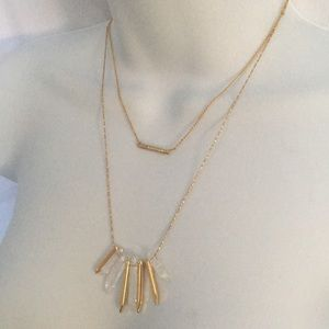 STELLA & DOT Gold Double Necklace